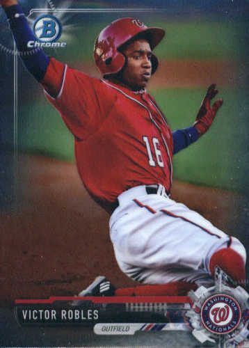 Photo of 2017 Bowman Chrome Prospects Victor Robles -- Nationals post-season