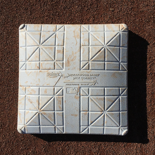 Photo of San Francisco Giants - 2016 Game-Used Base - MIL vs SF - 3rd Base from Innings 1-3 - Joe Panik Steals 3rd in the Bottom of the 3rd (6/14/16)