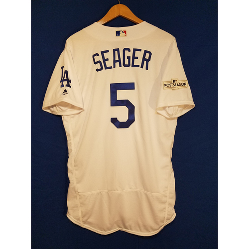 Photo of Corey Seager Home 2017 Team-Issued Post Season Jersey