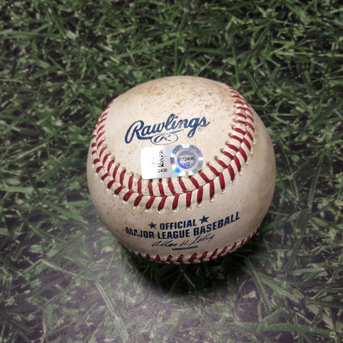 Brewers Charity Auction: Game Used Baseball - Derek Jeter Foul Tip 5/9/14 HZ172406