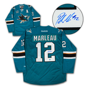 Patrick Marleau San Jose Sharks Autographed Reebok Premier Hockey Jersey