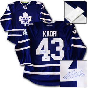 Nazem Kadri Autographed Toronto Maple Leafs Authentic Pro Jersey