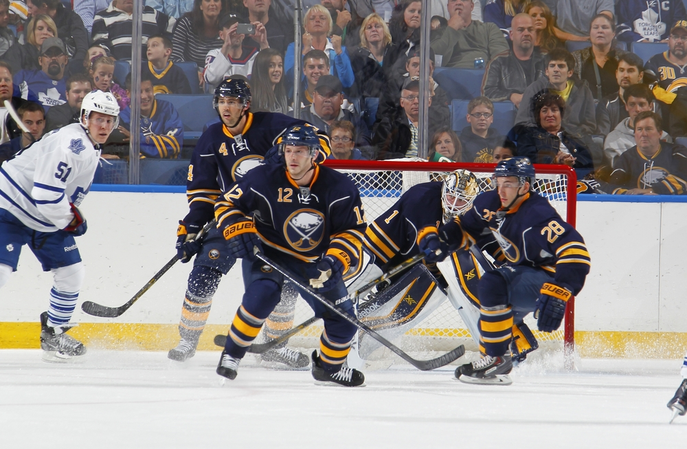 Buffalo Sabres vs. NY Islanders 4-13-14, Sec 116, Row 1 Seat 17 & 18