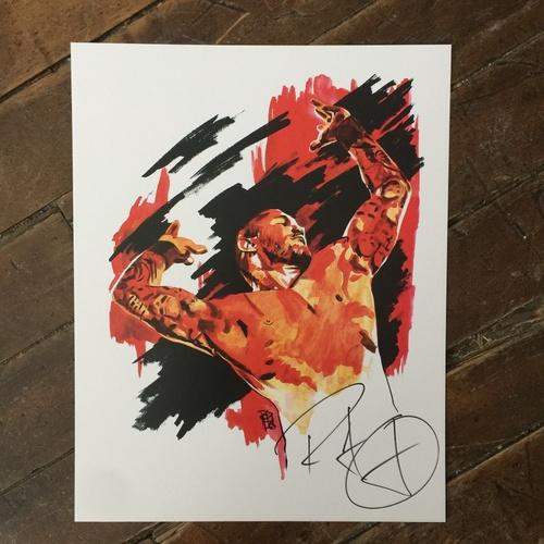 Photo of Randy Orton SIGNED 11 x 14 Rob Schamberger Print