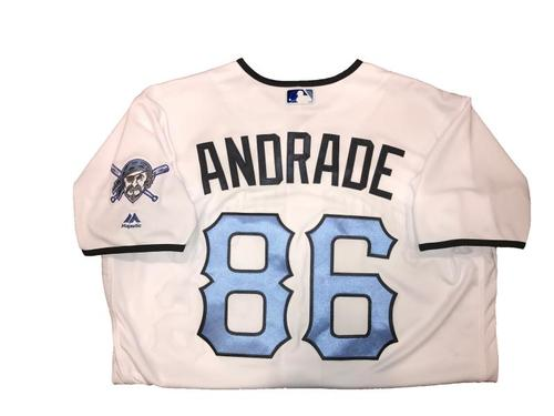 Photo of Heberto Andrade (Bullpen Catcher) Game-Used Father's Day Weekend Jersey - Worn on 6/17 & 6/18