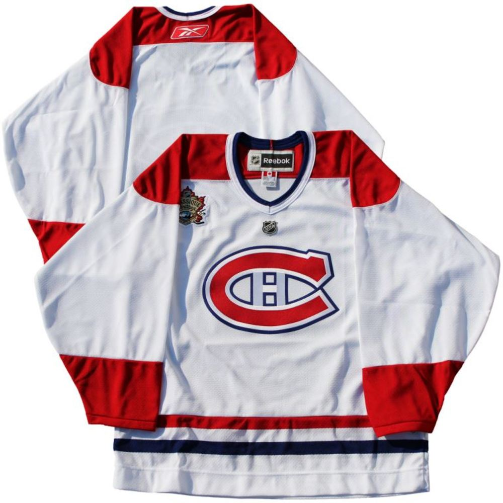 Montreal Canadiens - White Heritage Classic 2011 Reebok Jersey (Size L)