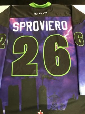 #26 Franco Sproviero Autographed game worn Sarnia Sting Esports jersey