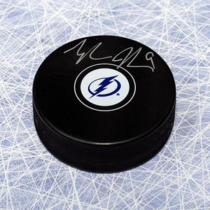 Tyler Johnson Tampa Bay Lightning Autographed Hockey Puck