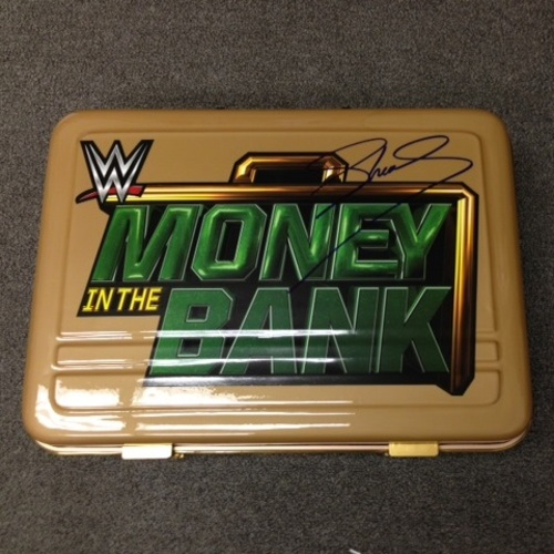 Photo of Sheamus SIGNED Money in the Bank Commemorative Briefcase