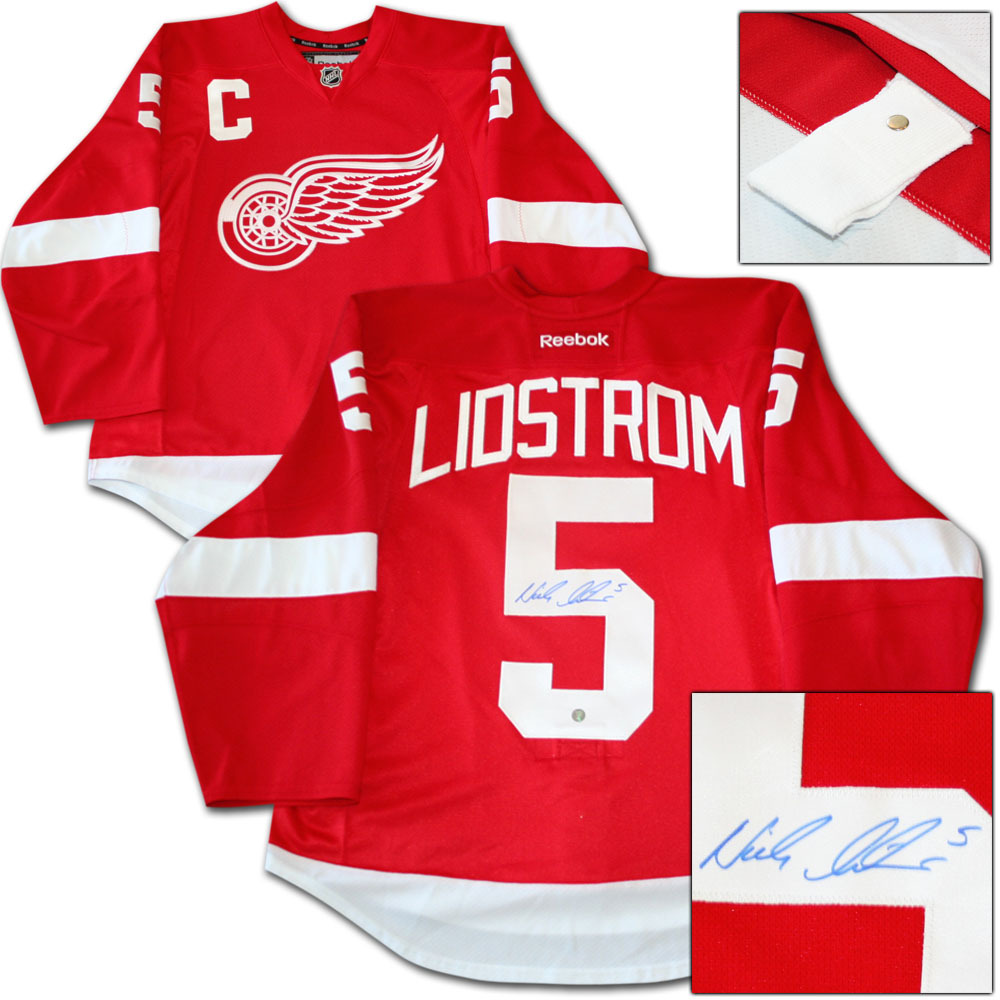 Nicklas Lidstrom Autographed Detroit Red Wings Authentic Pro Jersey