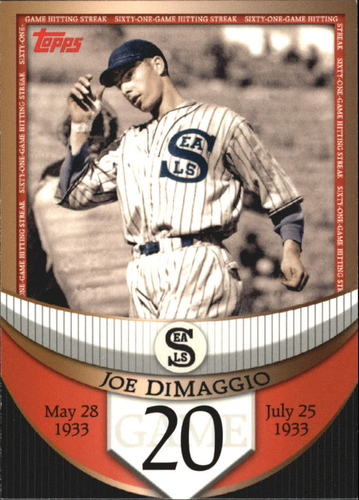 Photo of 2007 Topps DiMaggio Streak Before the Streak #JDSF20 Joe DiMaggio