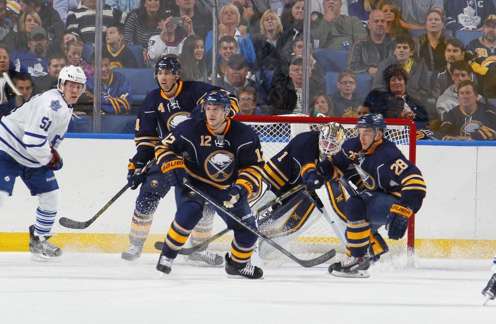 Buffalo Sabres vs. NY Islanders 4-13-14, Sec 123, Row 1 Seat 7 & 8