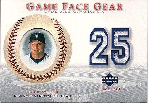 Photo of 2003 Upper Deck Game Face Gear #JG Jason Giambi Jersey