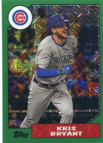 Photo of 2017 Topps '87 Topps Silver Pack Chrome Green #87KB Kris Bryant 009/150