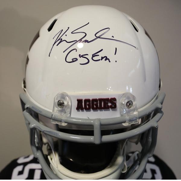 Texas A&M Autographed Full-Size Football Helmet