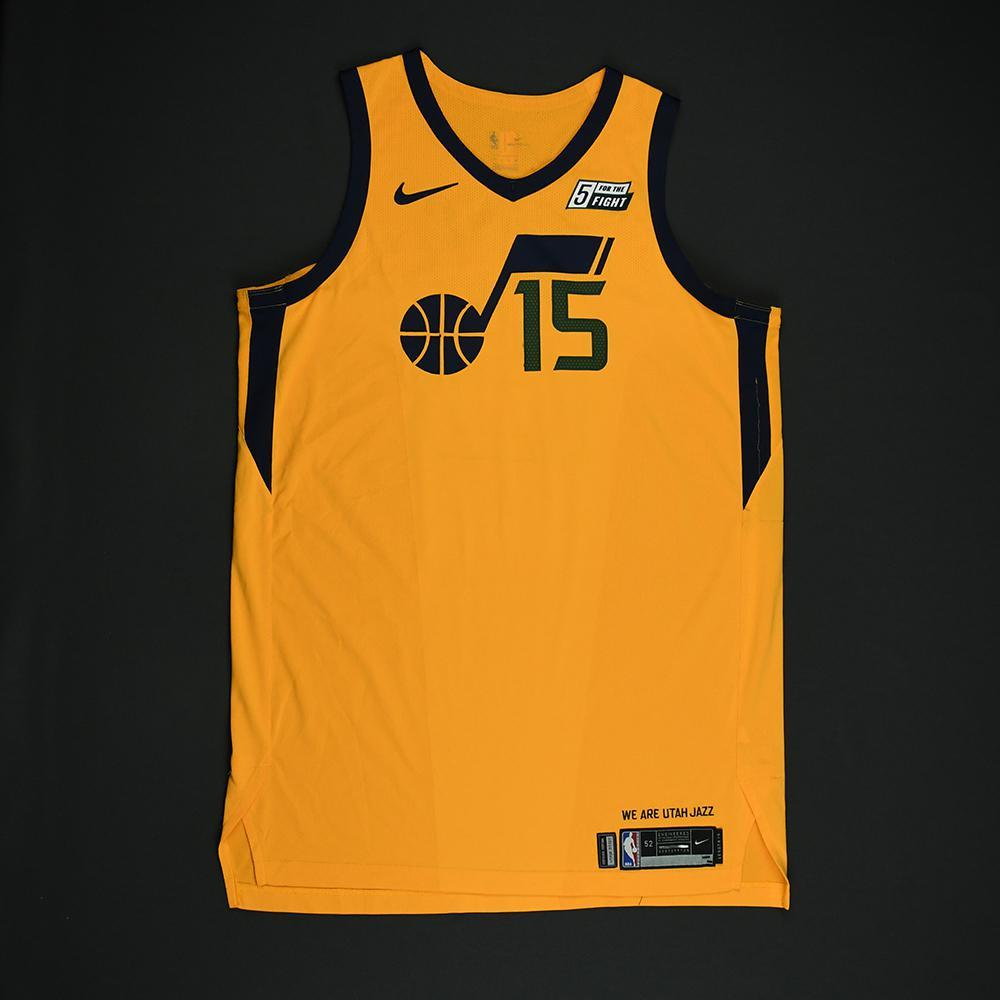 Derrick Favors - Utah Jazz - Game-Worn 'Statement' Jersey - 2017-18 Season - Double-Double