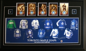 Toronto Maple Leafs - Framed Jersey Print With Photos Shack, Bower, Ullman, Palmateer, & Sittler