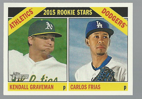 Photo of 2015 Topps Heritage #392 Carlos Frias RC/Kendall Graveman RC