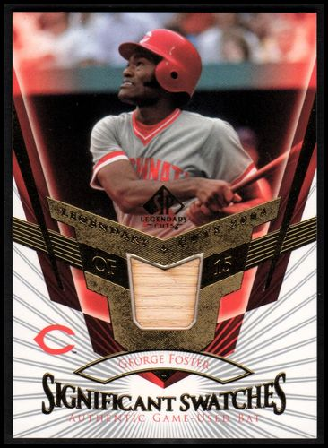 Photo of 2004 SP Legendary Cuts Significant Swatches #GF George Foster Bat