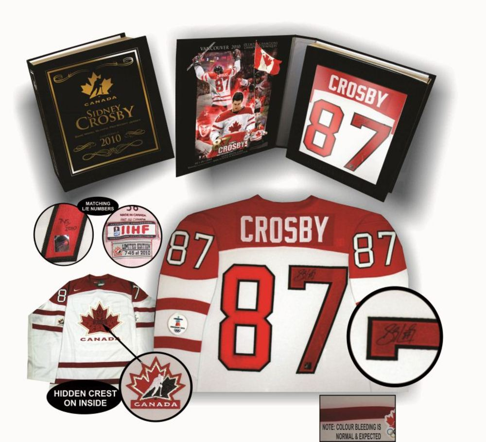 Sidney Crosby - Signed Team Canada 2010 Pro White Jersey In Deluxe Display Box