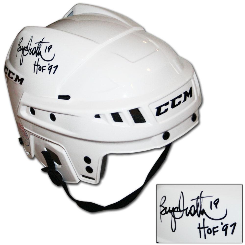 Bryan Trottier Autographed CCM Hockey Helmet (New York Islanders, Pittsburgh Penguins)