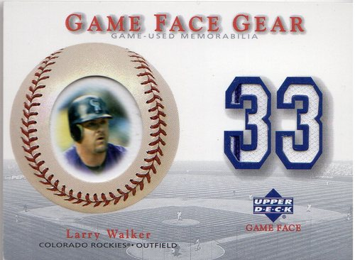 Photo of 2003 Upper Deck Game Face Gear #LW Larry Walker Jersey