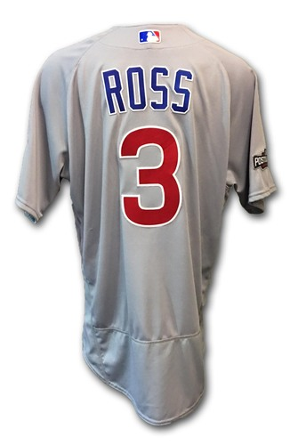 Photo of David Ross Game-Used Jersey -- Cubs at Dodgers -- NLCS Game 4 -- 10/19/16 and NLCS Game 5 -- 10/20/16
