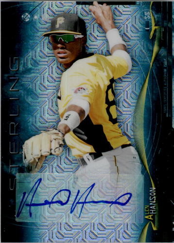 Photo of 2014 Bowman Sterling Prospect Autographs Japan Fractors #BSPAAH Alen Hanson #'d to 5 (Top Pittsburgh