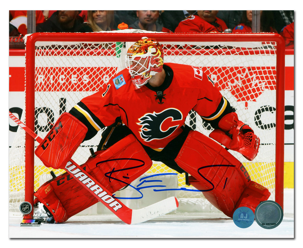 Brian Elliott Calgary Flames Autographed Hockey Goalie 8x10 Photo
