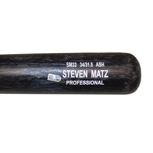 Photo of Steven Matz #32 - Team Issued Full Bat - Rawlings - Black Model - 2016 Season