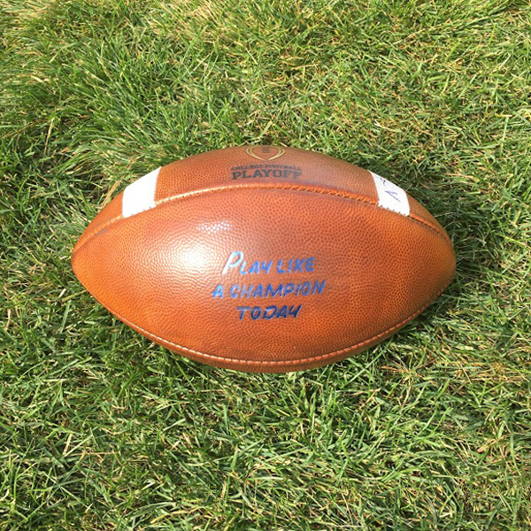 Notre Dame Game-Used Football vs. Miami (OH) 9/30/2017