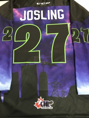 #27 Sean Josling Autographed game worn Sarnia Sting Esports jersey