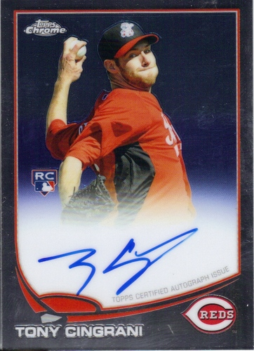 Photo of 2013 Topps Chrome Rookie Autographs #171 Tony Cingrani