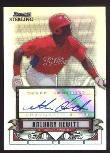 Photo of 2008 Bowman Sterling Prospects Refractors #AH Anthony Hewitt AU