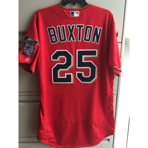Photo of 2016 Byron Buxton Game-Used Scarlett Jersey (10.75sec Triple)