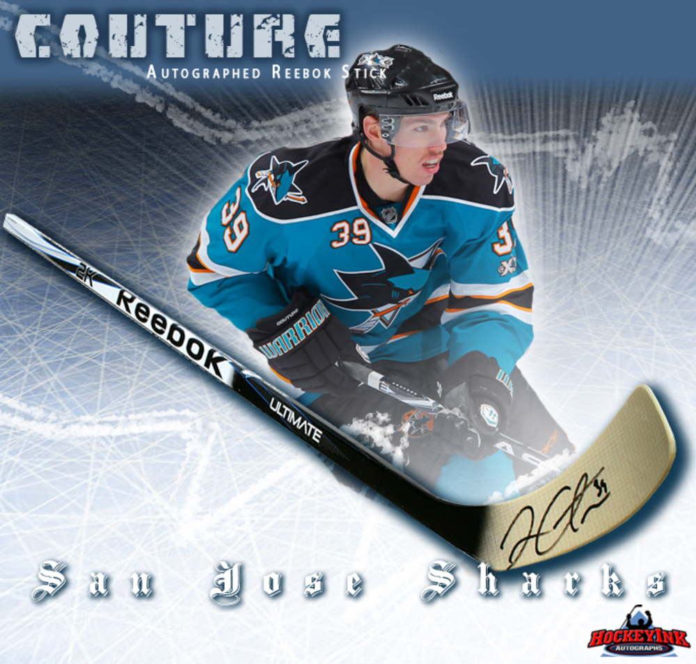 LOGAN COUTURE Signed Reebok Stick - San Jose Sharks