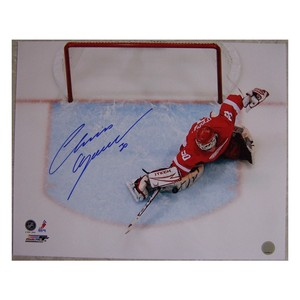 Chris Osgood Autographed Detroit Red Wings 16x20 Photo