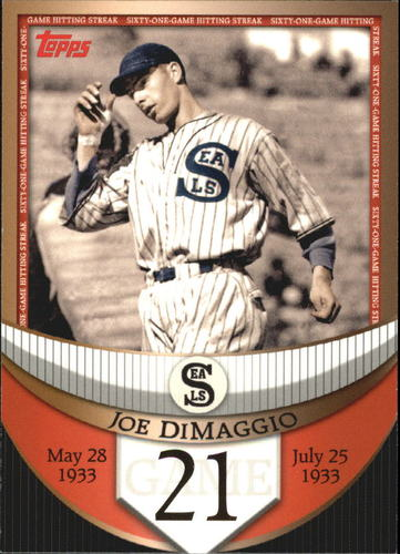 Photo of 2007 Topps DiMaggio Streak Before the Streak #JDSF21 Joe DiMaggio