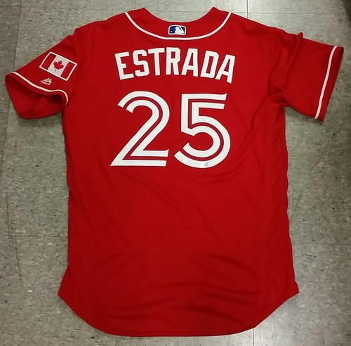 Photo of Authenticated Game Used Marco Estrada Canada Day Jersey