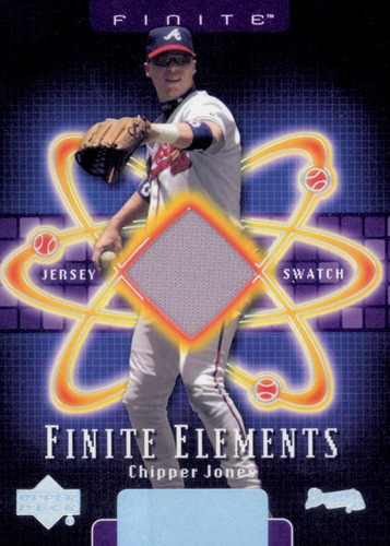 Photo of 2003 Upper Deck Finite Elements Game Jersey #CJ Chipper Jones