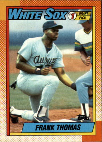 Photo of 1990 Topps #414 Frank Thomas -- White Sox rookie card