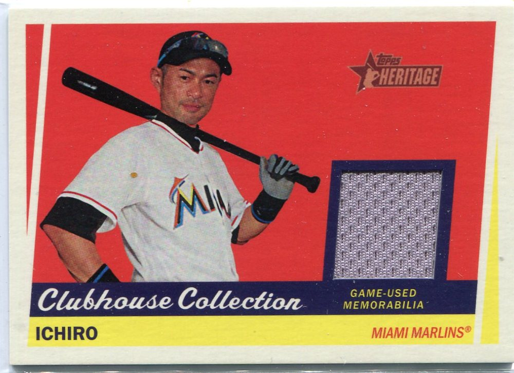 2016 Topps Heritage Clubhouse Collection Relics Ichiro Suzuki game worn jersey