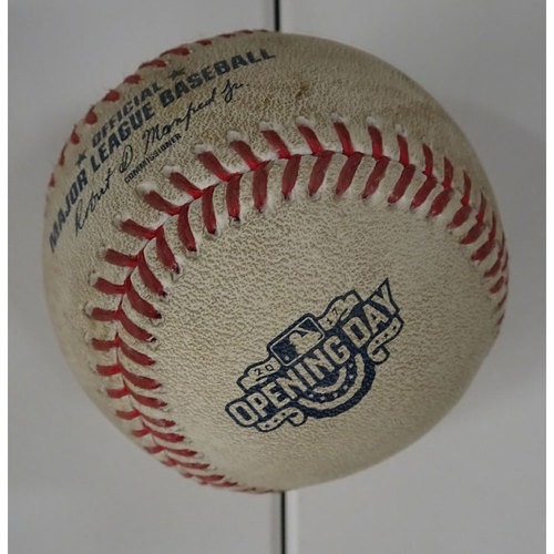 Photo of Freddie Freeman Hit Single Ball from Opening Day at SunTrust Park - April 14, 2017