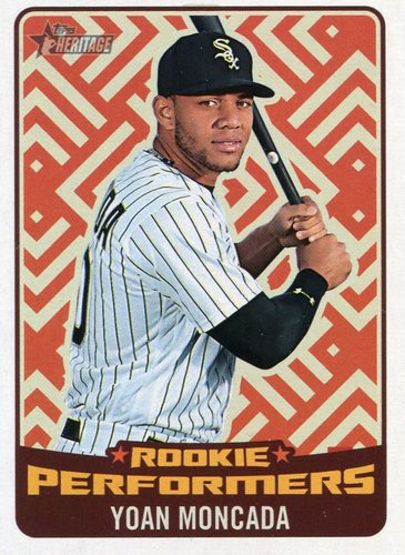 Photo of 2017 Topps Heritage Rookie Preformers #RPYM Yoan Moncada