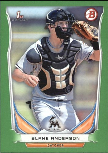 Photo of 2014 Bowman Draft Green #DP34 Blake Anderson