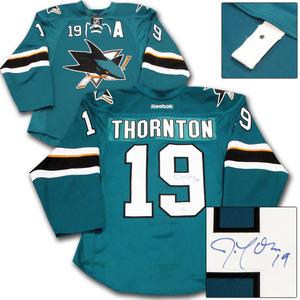 Joe Thornton Autographed San Jose Sharks Authentic Pro Jersey