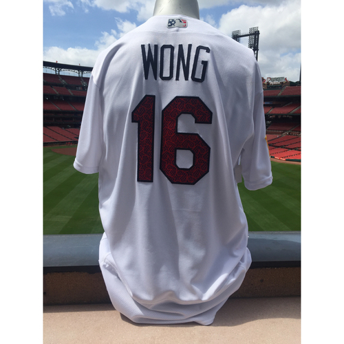 Photo of Cardinals Authentics: Kolten Wong Game Worn 4th of July Jersey
