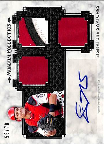 Photo of 2014 Topps Museum Collection Signature Swatches Triple Relic Autographs #SSTDM2 Devin Mesoraco #'d t