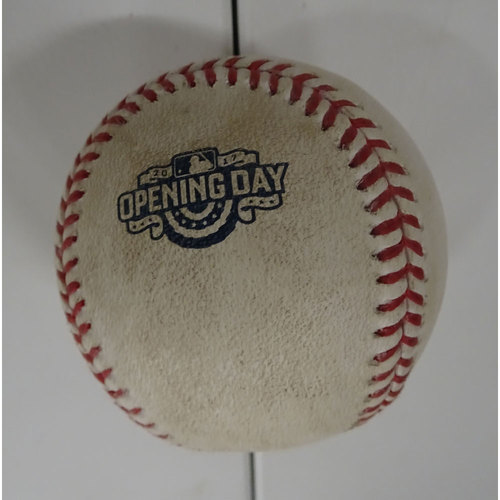 Photo of Allen Cordoba Hit Single Ball from Opening Day at SunTrust Park - April 14, 2017