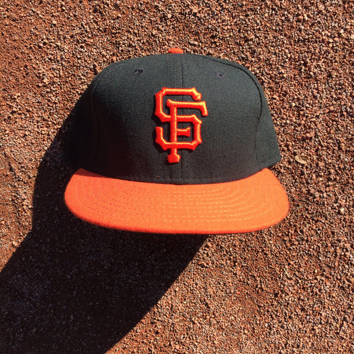 Photo of San Francisco Giants - 2016 Game-Used Cap - Orange Bill - worn by #8 Hunter Pence (Size: 7 3/8)